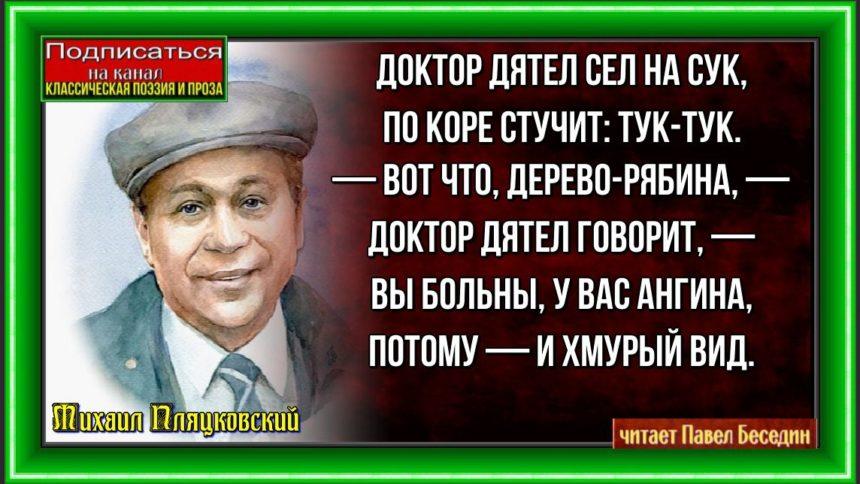 Доктор дятел Михаил Пляцковский читает Павел Беседин