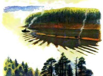 Лес и ручей— Константин Ушинский