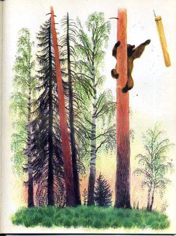 Медведь и бревно— Константин Ушинский