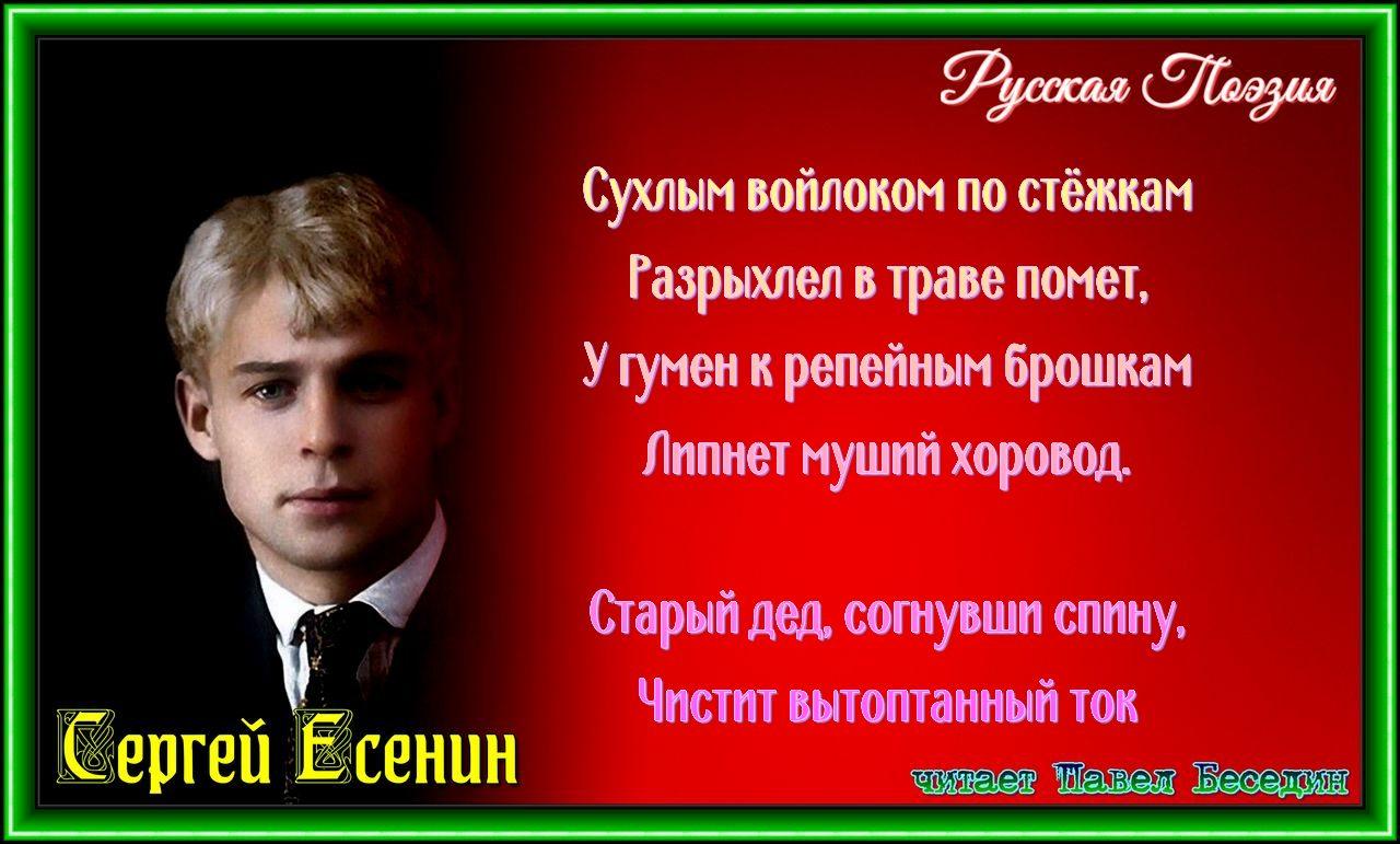 дед. Сергей есенин читает павел беседин