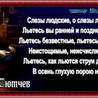 Слезы людские, о слезы людские — Фёдор Тютчев — читает Павел Беседин