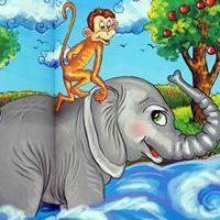 Slon i obez'yana—Kazahskaya Narodnaya Skazka